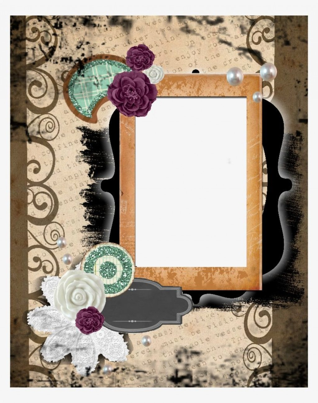 005 Top Free Printable Scrapbook Template High Definition  Templates Paper Frame LayoutLarge