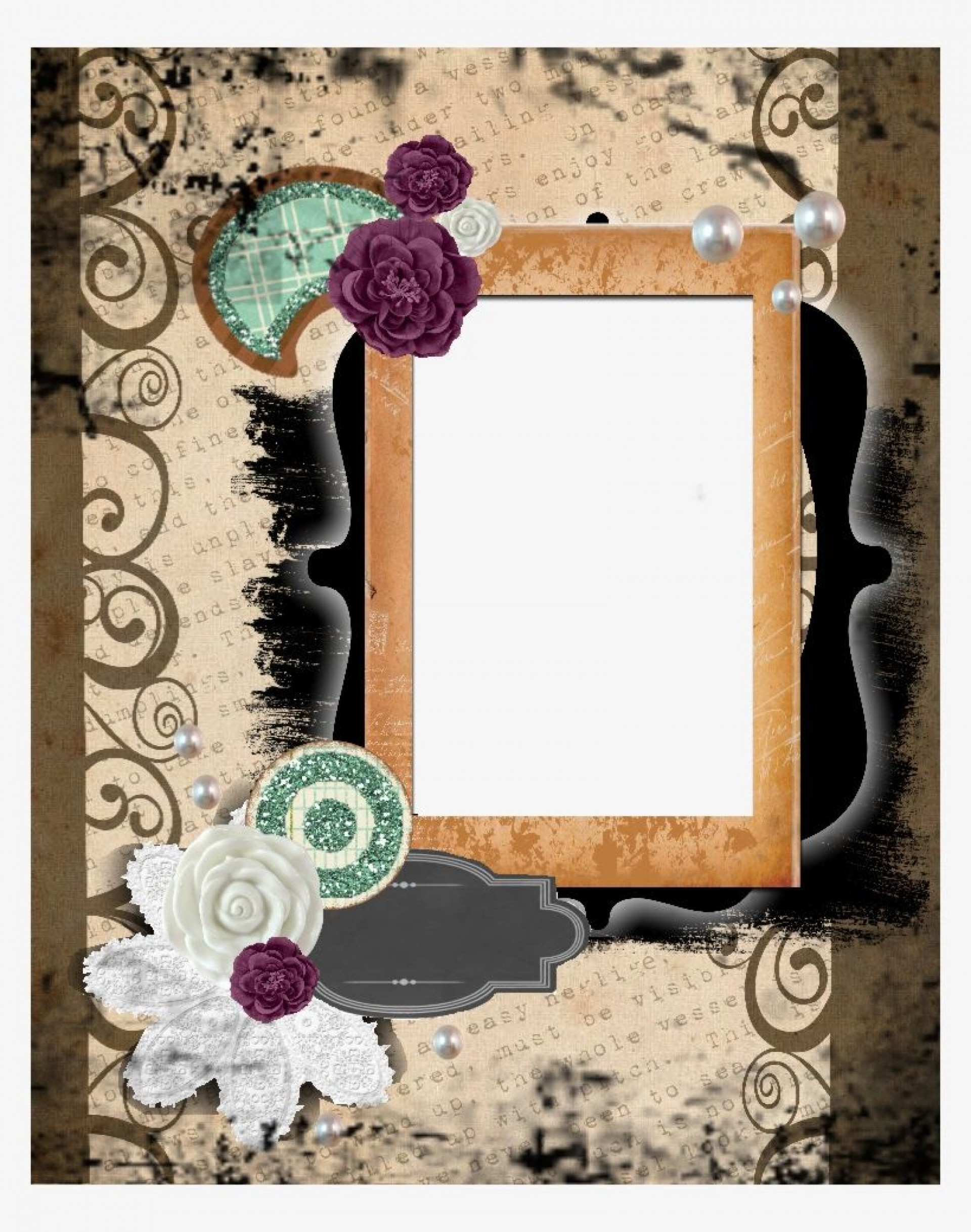 005 Top Free Printable Scrapbook Template High Definition  Templates Paper Frame Layout1920