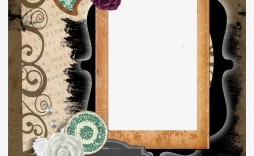 005 Top Free Printable Scrapbook Template High Definition  Templates Paper Frame Layout