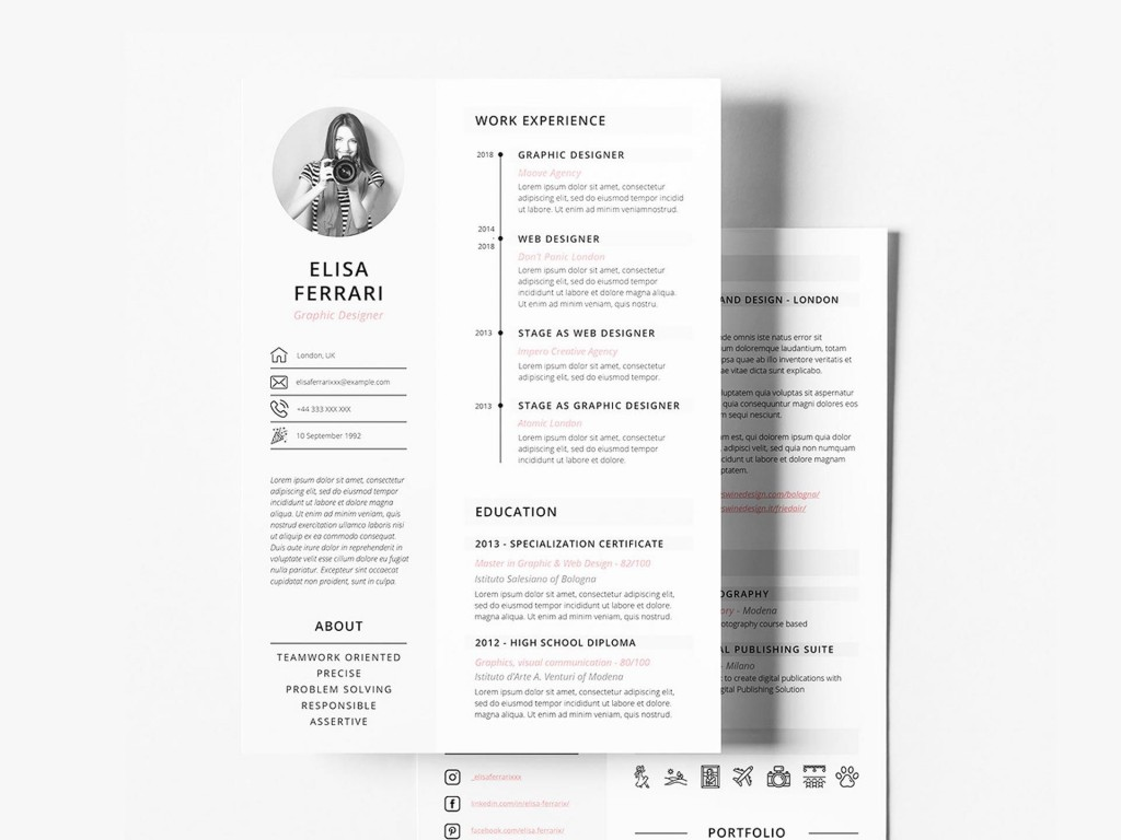 005 Top Free Resume Template For Page High Def  Pages Apple MacLarge