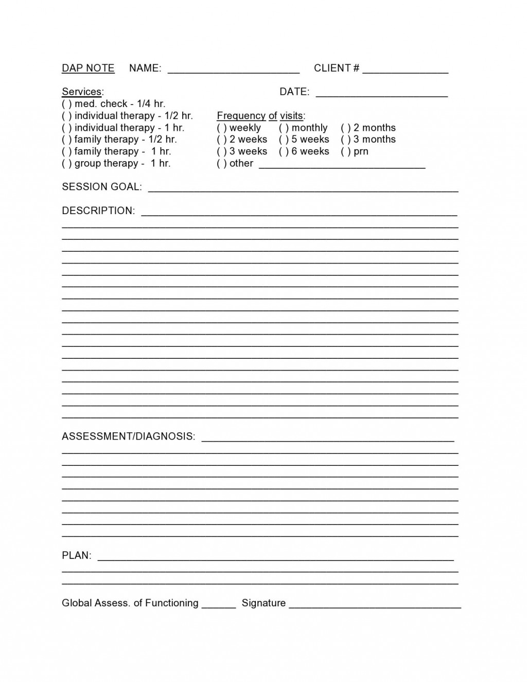 005 Top Group Psychotherapy Progres Note Template Idea Large
