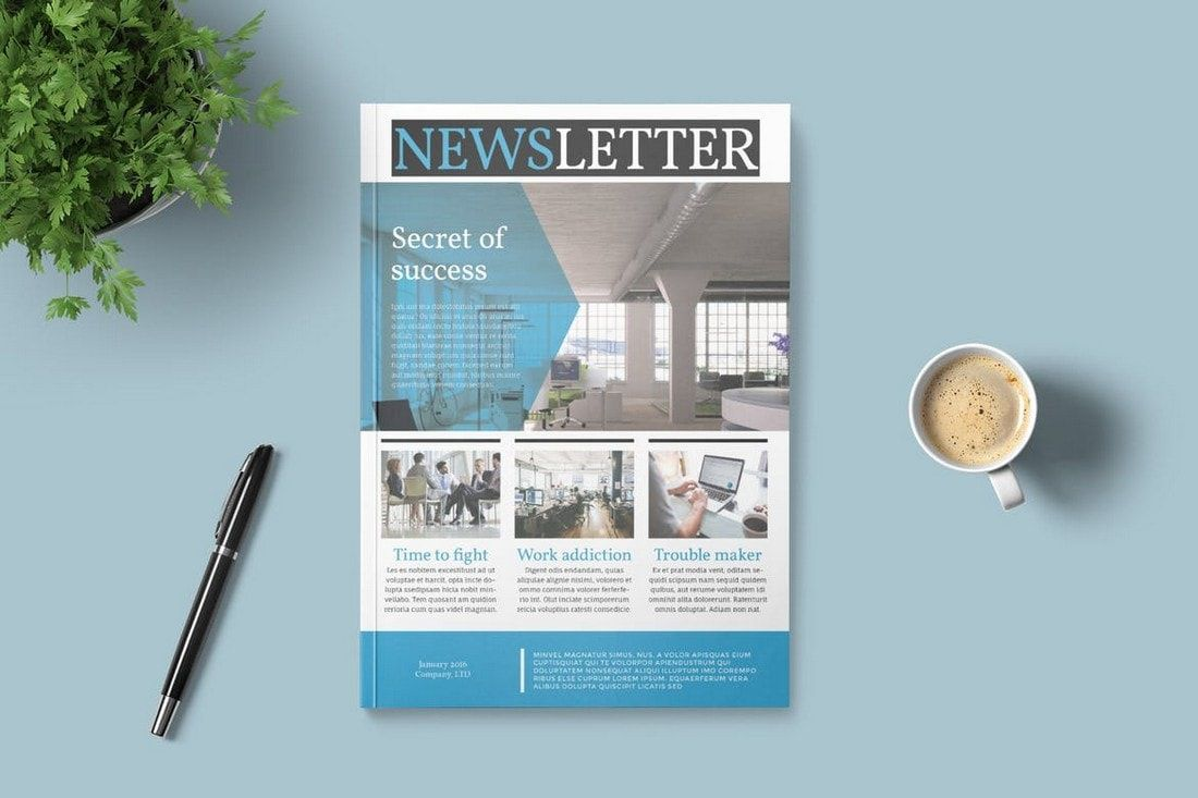 005 Top Indesign Newsletter Template Free Design  Cs6 Email Adobe DownloadFull