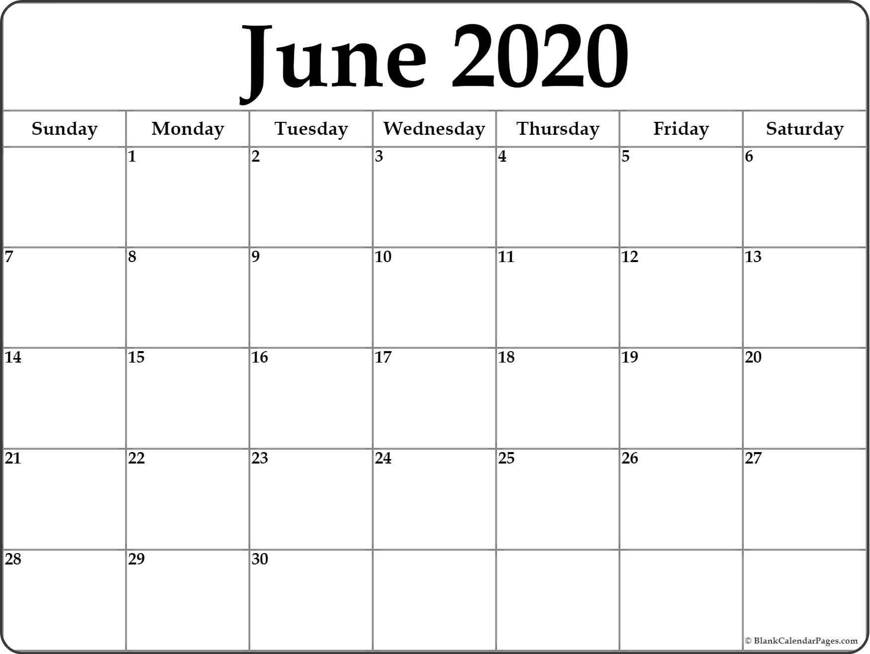 005 Top June 2020 Monthly Calendar Template Inspiration Full