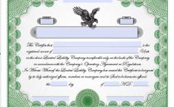 005 Top Llc Membership Certificate Template Example  Interest Free Member