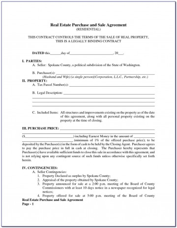 005 Top Property Purchase Agreement Template Free Picture  Mobile Home360