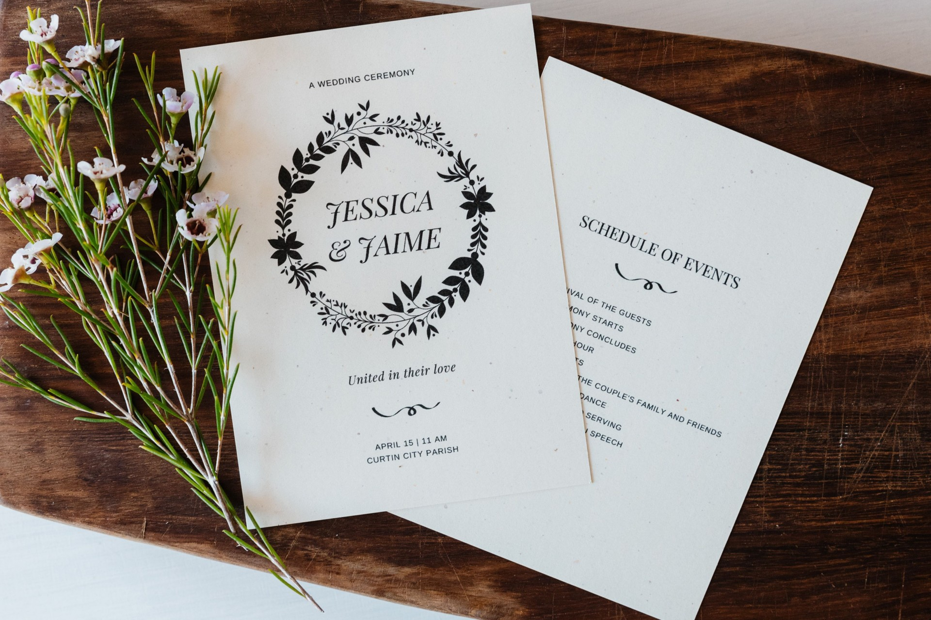 005 Top Wedding Order Of Service Template Free Inspiration  Front Cover Download Church1920