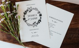 005 Top Wedding Order Of Service Template Free Inspiration  Uk Church Download