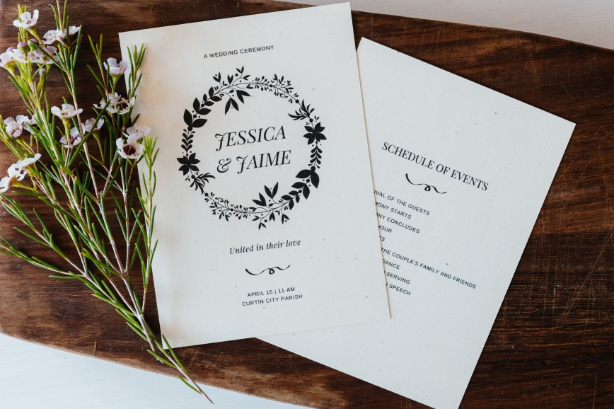 005 Top Wedding Order Of Service Template Free Inspiration  Front Cover Download Church868