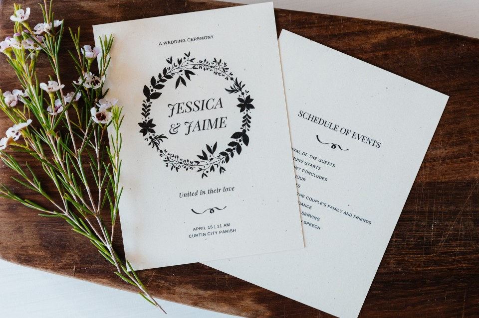 005 Top Wedding Order Of Service Template Free Inspiration  Front Cover Download Church960