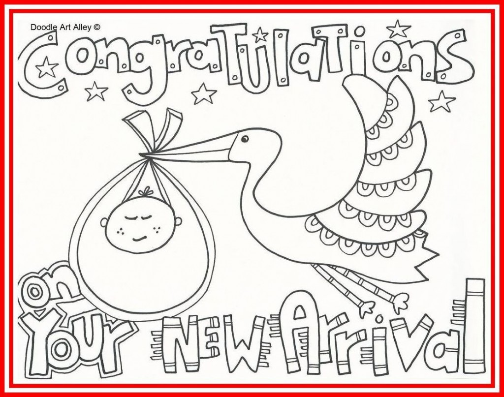 005 Unbelievable Baby Shower Card Printable Black And White Idea Large