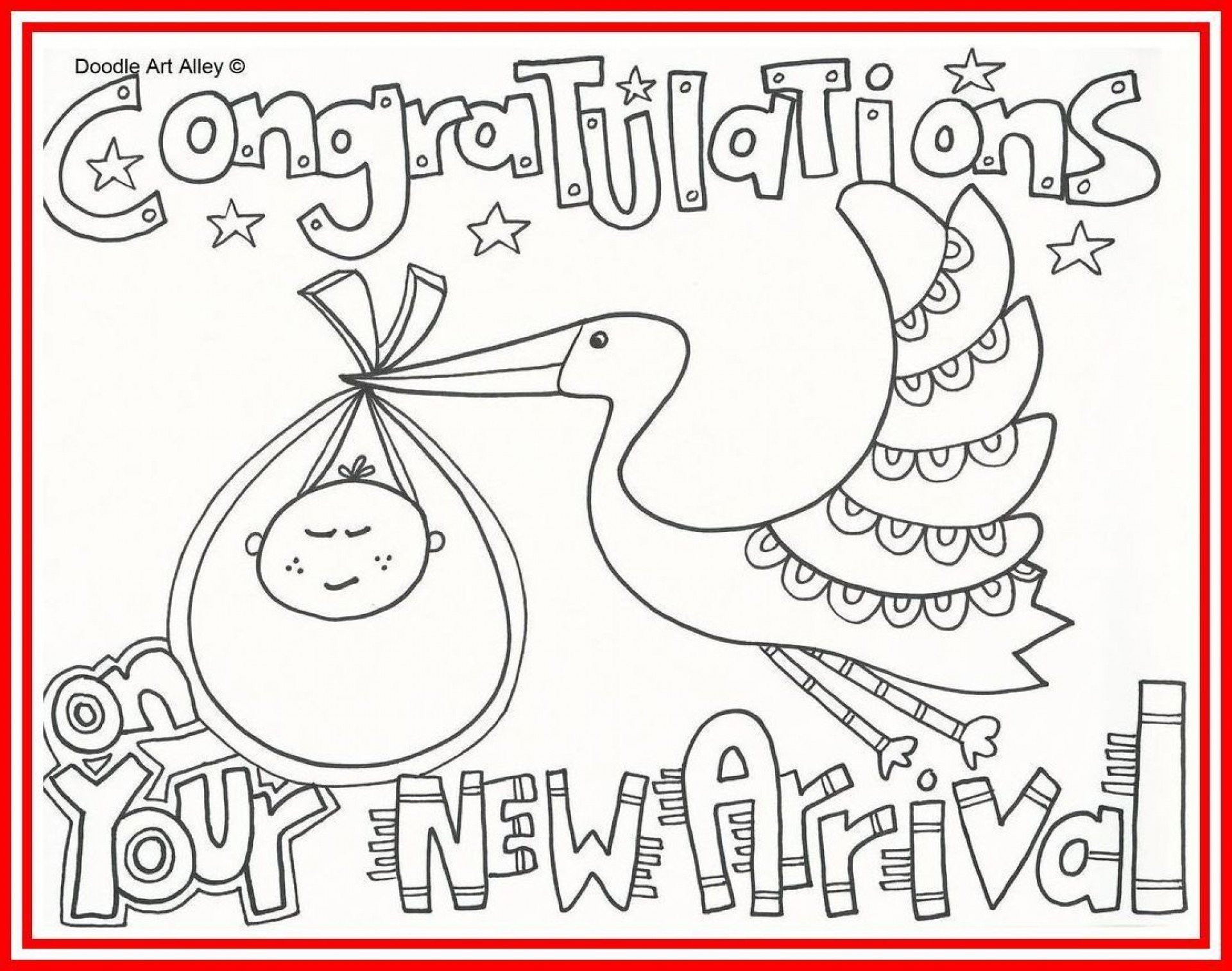 005 Unbelievable Baby Shower Card Printable Black And White Idea 1920