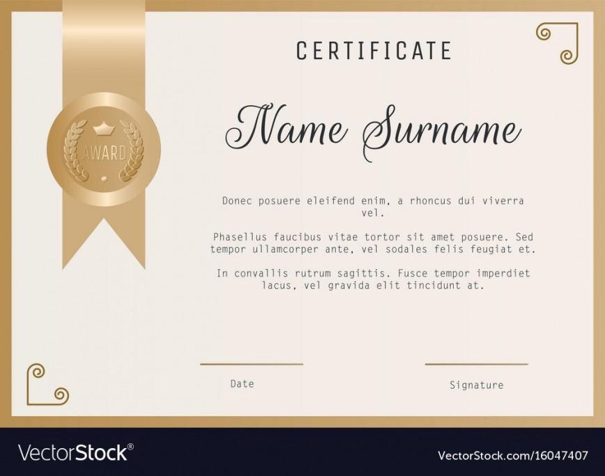 005 Unbelievable Blank Award Certificate Template Sample  Printable Free Editable