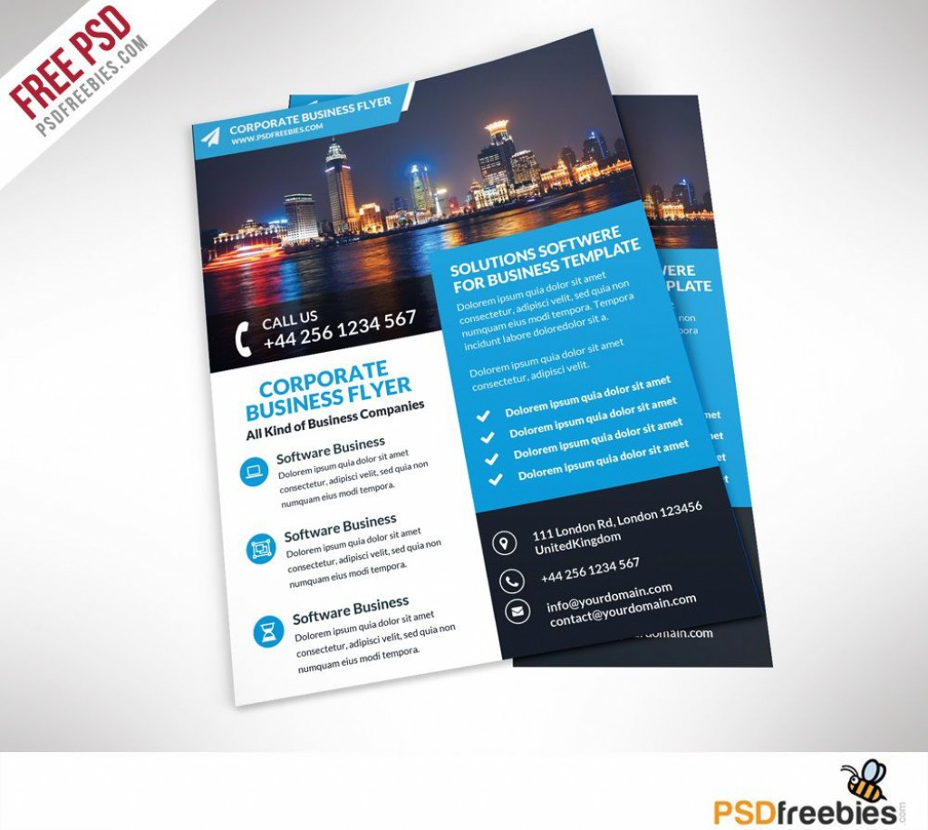 005 Unbelievable Busines Flyer Template Psd Free Download Picture Large