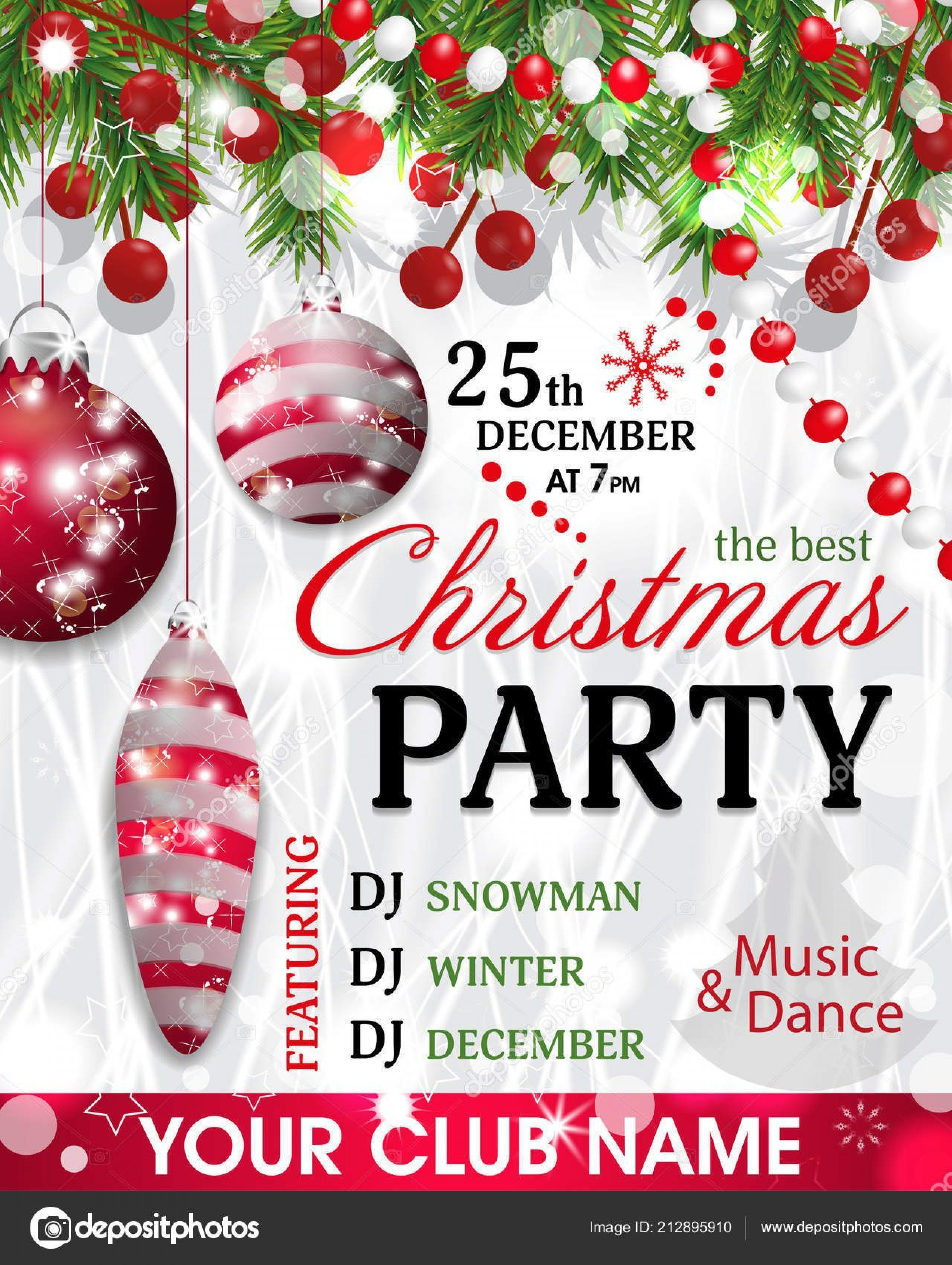 005 Unbelievable Christma Party Invitation Template Design  Funny Free Download Word Card1920