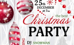 005 Unbelievable Christma Party Invitation Template Design  Holiday Word Free Microsoft Editable
