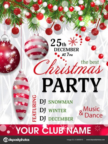 005 Unbelievable Christma Party Invitation Template Design  Holiday Download Free Psd360