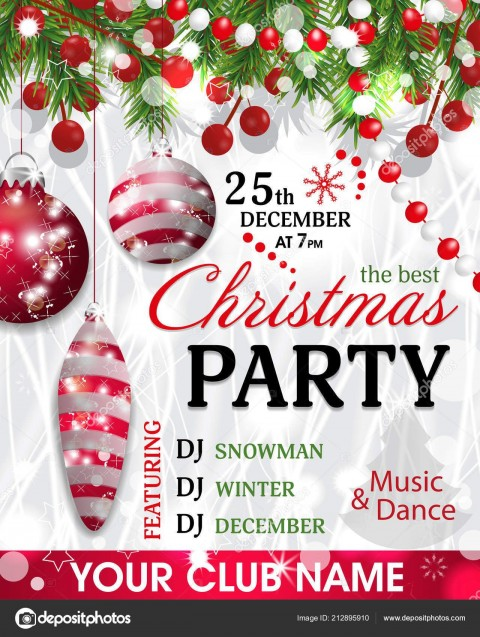 005 Unbelievable Christma Party Invitation Template Design  Holiday Download Free Psd480