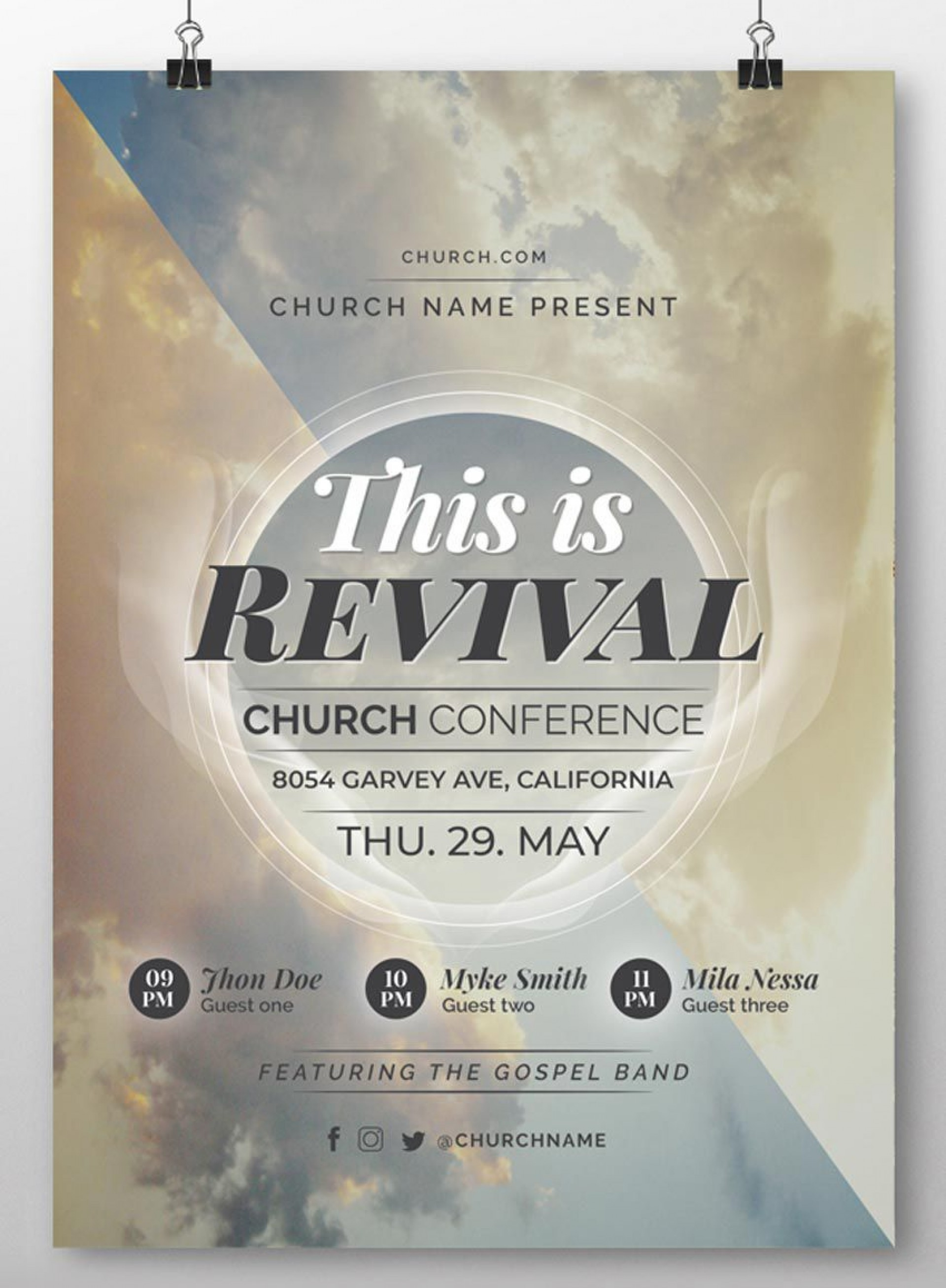 005 Unbelievable Church Flyer Template Free Download Design  Event Psd1920
