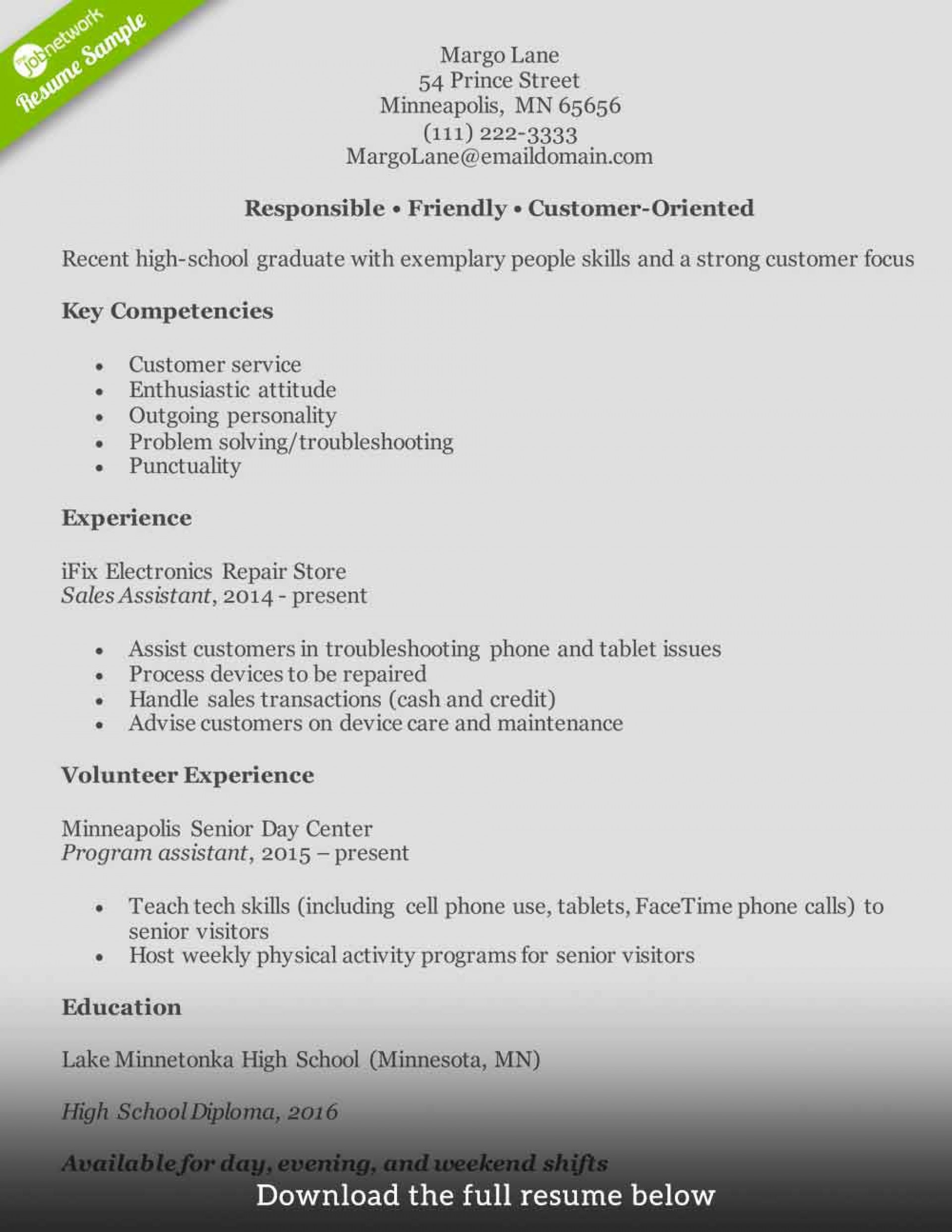 005 Unbelievable Customer Service Resume Template Sample  Cv1920