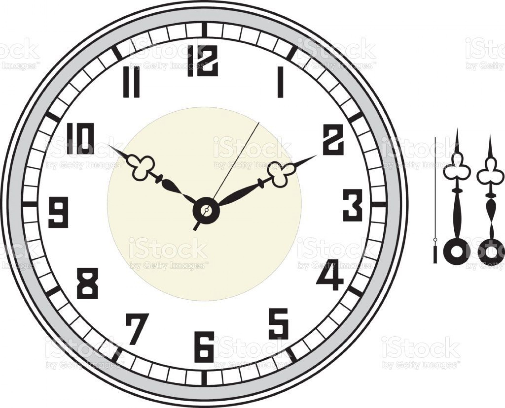 005 Unbelievable Customizable Clock Face Template Picture 1920