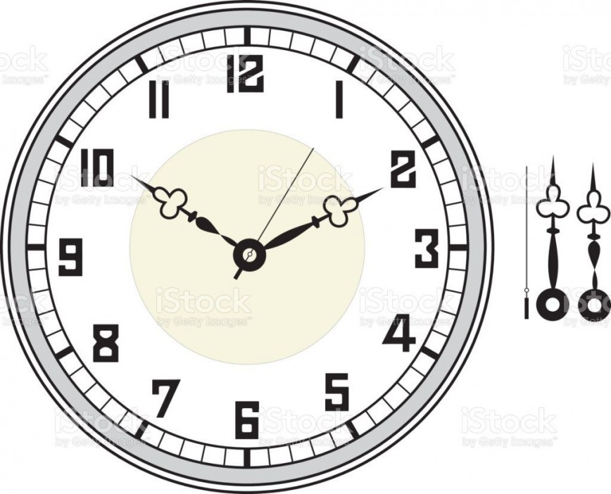 005 Unbelievable Customizable Clock Face Template Picture