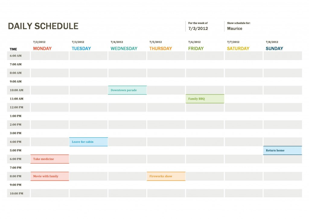 005 Unbelievable Daily Calendar Template Excel Image Large