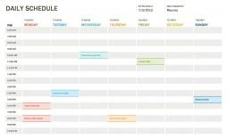 005 Unbelievable Daily Calendar Template Excel Image