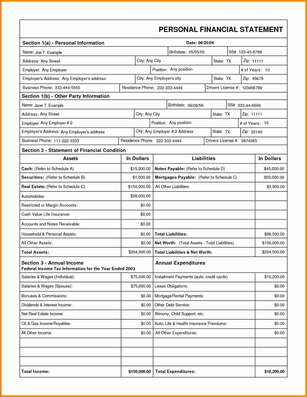 005 Unbelievable Financial Statement Template Excel Highest Quality  Consolidation Personal Free DownloadFull