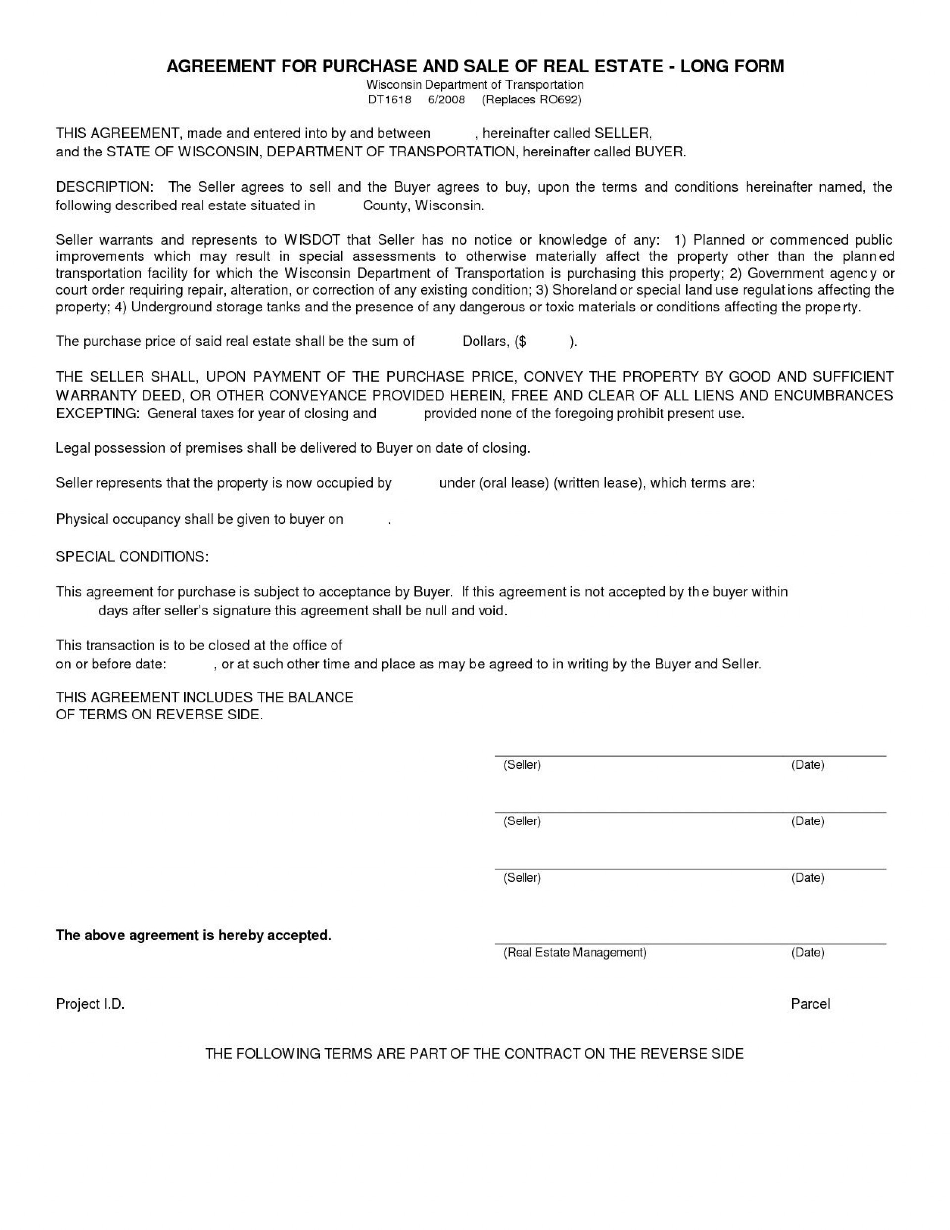 005 Unbelievable Free Home Purchase Contract Template Highest Quality 1920