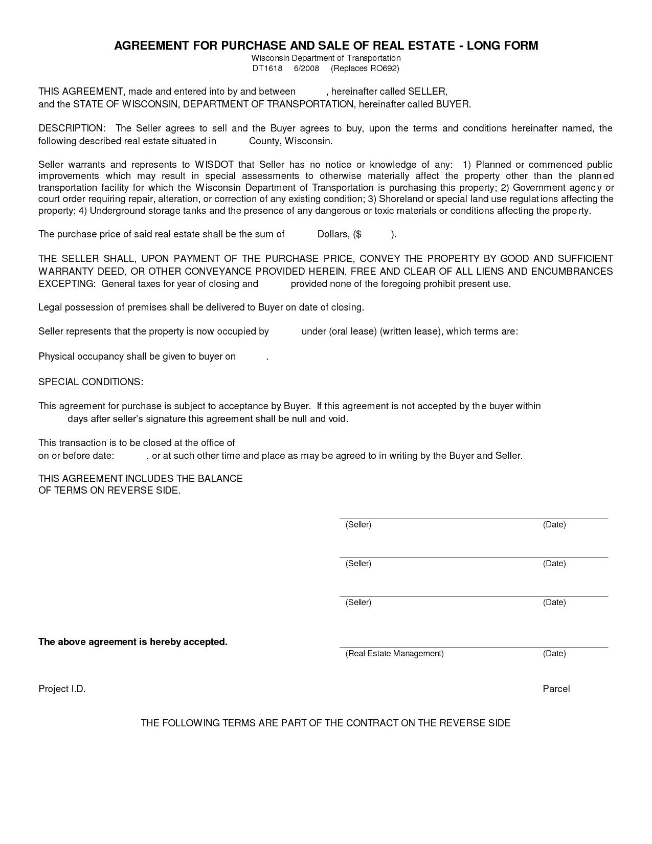 005 Unbelievable Free Home Purchase Contract Template Highest Quality Full