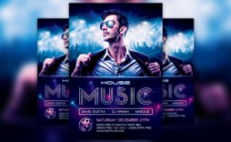 005 Unbelievable Free Party Flyer Psd Template Download High Def  - Neon Glow