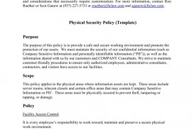 005 Unbelievable It Security Policy Template Design  Download Free For Small Busines Pdf
