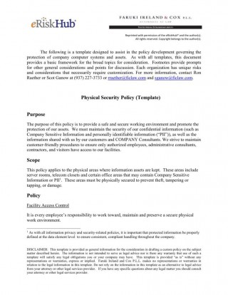 005 Unbelievable It Security Policy Template Design  Download Free For Small Busines Pdf320