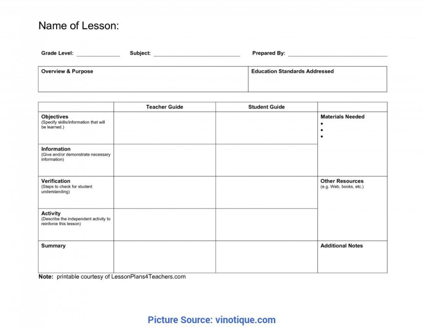 005 Unbelievable Lesson Plan Template Pdf Highest Quality  Format Download Free Printable