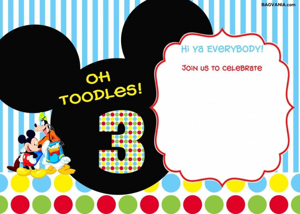 005 Unbelievable Mickey Mouse Invitation Template Inspiration  Free Diy 1st Birthday Baby DownloadLarge