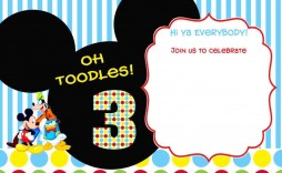 005 Unbelievable Mickey Mouse Invitation Template Inspiration  Free Diy 1st Birthday Baby Download
