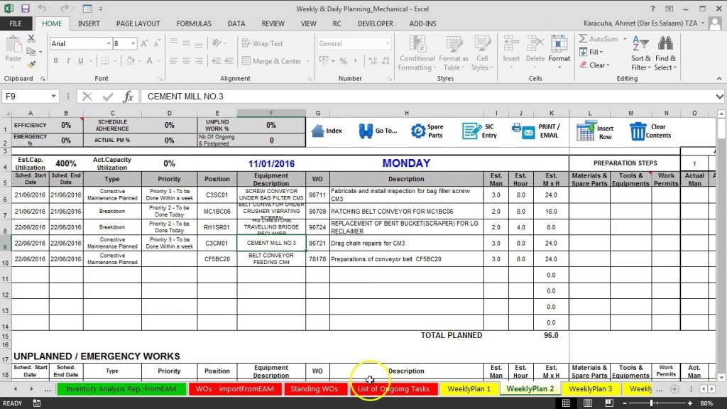 005 Unbelievable Preventive Maintenance Plan Template Highest Clarity  Electrical Equipment Sample Format OfLarge