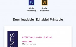 005 Unbelievable Printable Event Program Template High Definition  Free Download