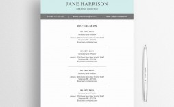 005 Unbelievable Resume Reference List Template Microsoft Word Design