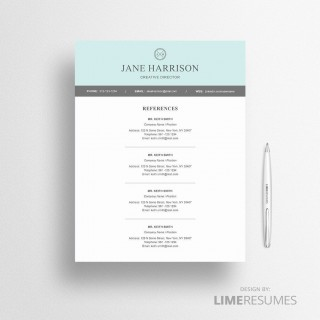 005 Unbelievable Resume Reference List Template Microsoft Word Design 320