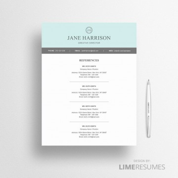 005 Unbelievable Resume Reference List Template Microsoft Word Design 360