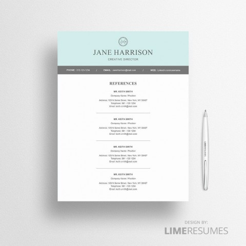 005 Unbelievable Resume Reference List Template Microsoft Word Design 480