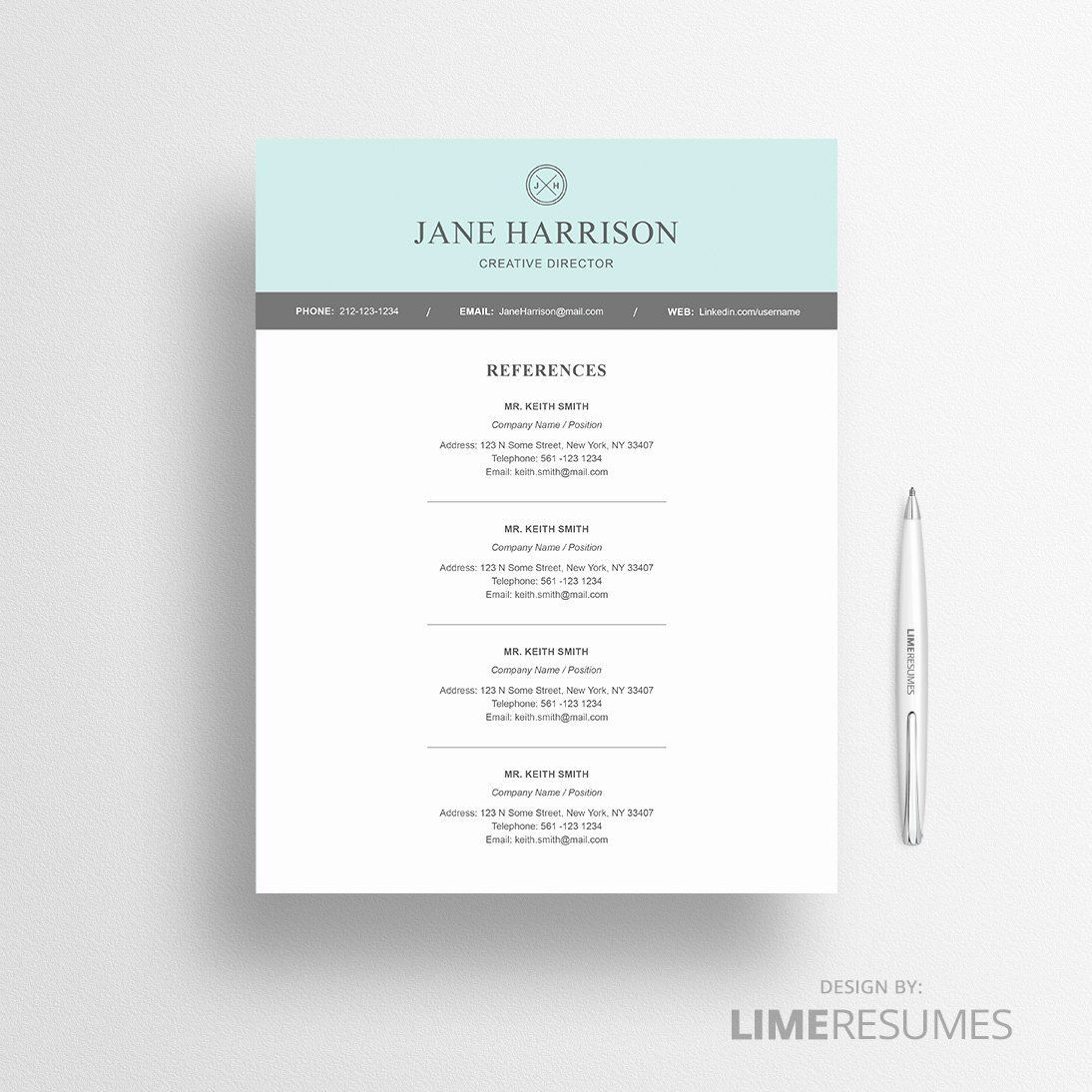 005 Unbelievable Resume Reference List Template Microsoft Word Design Full