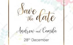 005 Unbelievable Save The Date Template Photoshop Inspiration  Adobe Card