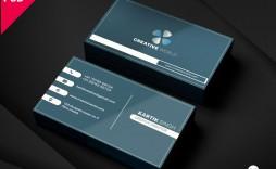005 Unbelievable Simple Busines Card Template Psd Idea  Design Minimalist Free Visiting In Photoshop