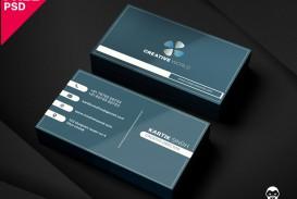 005 Unbelievable Simple Busines Card Template Psd Idea  Design In Photoshop Minimalist Free