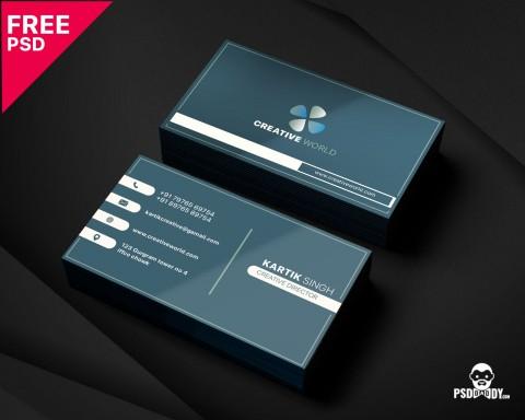 005 Unbelievable Simple Busines Card Template Psd Idea  Design In Photoshop Minimalist Free480