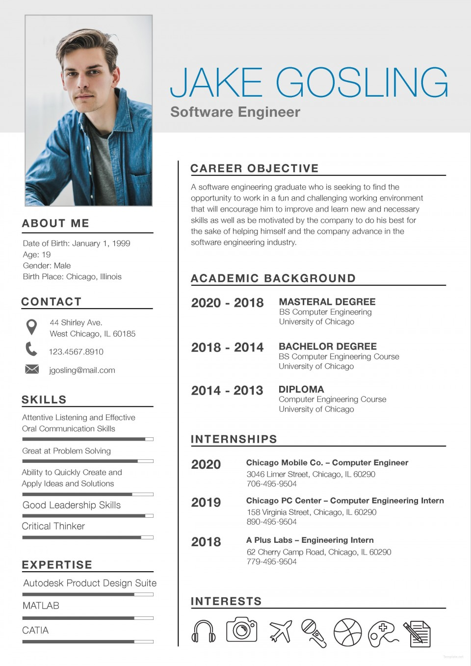005 Unbelievable Student Resume Template Word Free Download High Resolution  College Microsoft960
