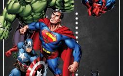 005 Unbelievable Superhero Birthday Party Invitation Template Free High Resolution  Invite