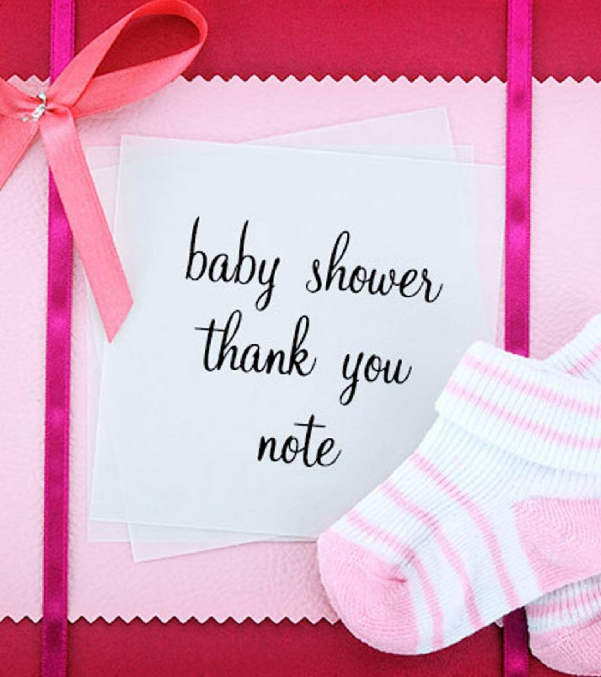 005 Unbelievable Thank You Card Wording For Baby Shower Group Gift Sample 1920